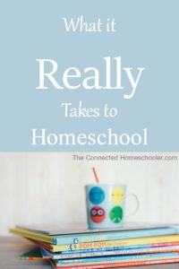 What it Really Takes to Homeschool