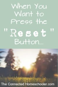 "When You Want to Press the ""Reset"" Button…."